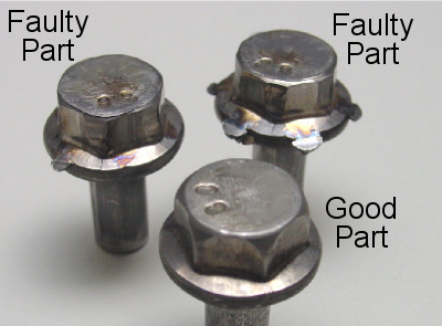 Good and faulty parts